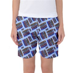 Abstract Pattern Seamless Artwork Women s Basketball Shorts