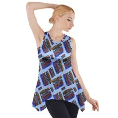 Abstract Pattern Seamless Artwork Side Drop Tank Tunic