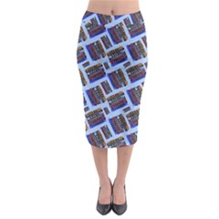 Abstract Pattern Seamless Artwork Midi Pencil Skirt