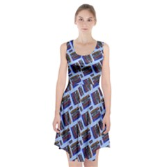 Abstract Pattern Seamless Artwork Racerback Midi Dress