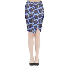 Abstract Pattern Seamless Artwork Midi Wrap Pencil Skirt