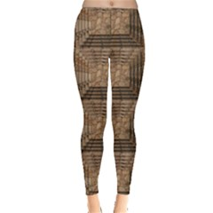 Collage Stone Wall Texture Leggings