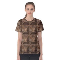 Collage Stone Wall Texture Women s Cotton Tee