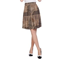 Collage Stone Wall Texture A-Line Skirt