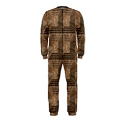 Collage Stone Wall Texture Onepiece Jumpsuit (kids)