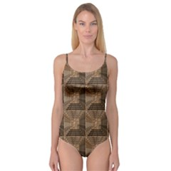 Collage Stone Wall Texture Camisole Leotard