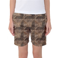 Collage Stone Wall Texture Women s Basketball Shorts