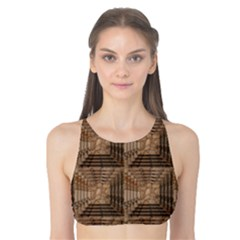 Collage Stone Wall Texture Tank Bikini Top