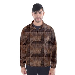 Collage Stone Wall Texture Wind Breaker (Men)