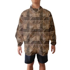 Collage Stone Wall Texture Wind Breaker (kids)