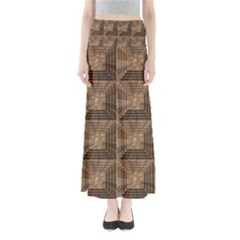 Collage Stone Wall Texture Maxi Skirts