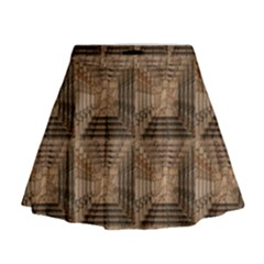 Collage Stone Wall Texture Mini Flare Skirt