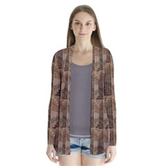 Collage Stone Wall Texture Cardigans