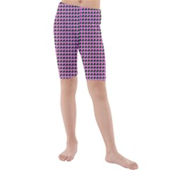 Pattern Grid Background Kids  Mid Length Swim Shorts