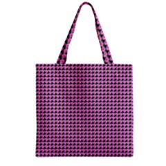 Pattern Grid Background Grocery Tote Bag
