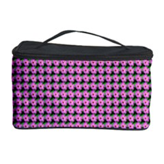 Pattern Grid Background Cosmetic Storage Case