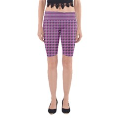 Pattern Grid Background Yoga Cropped Leggings