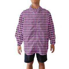 Pattern Grid Background Wind Breaker (Kids)