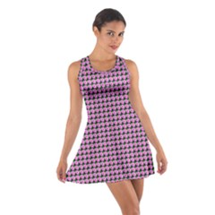 Pattern Grid Background Cotton Racerback Dress