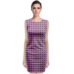 Pattern Grid Background Classic Sleeveless Midi Dress