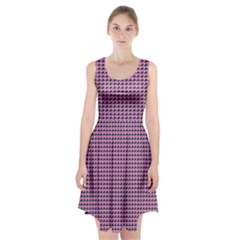 Pattern Grid Background Racerback Midi Dress