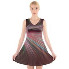 Background Vector Backgrounds Vector V Neck Sleeveless Skater Dress
