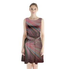 Background Vector Backgrounds Vector Sleeveless Chiffon Waist Tie Dress