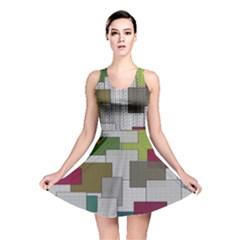 Decor Painting Design Texture Reversible Skater Dress