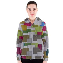Decor Painting Design Texture Women s Zipper Hoodie