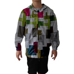 Decor Painting Design Texture Hooded Wind Breaker (Kids)