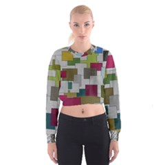Decor Painting Design Texture Cropped Sweatshirt