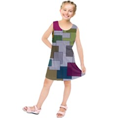 Decor Painting Design Texture Kids  Tunic Dress