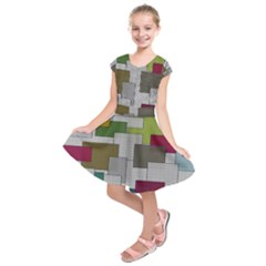 Decor Painting Design Texture Kids  Short Sleeve Dress