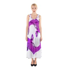 Koi Carp Fish Water Japanese Pond Sleeveless Maxi Dress