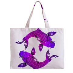 Koi Carp Fish Water Japanese Pond Zipper Mini Tote Bag