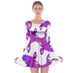 Koi Carp Fish Water Japanese Pond Long Sleeve Skater Dress