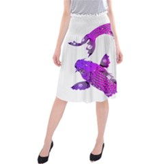 Koi Carp Fish Water Japanese Pond Midi Beach Skirt