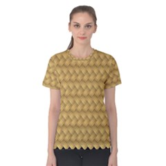 Wood Illustrator Yellow Brown Women s Cotton Tee