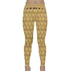 Wood Illustrator Yellow Brown Classic Yoga Leggings