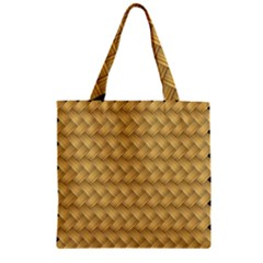 Wood Illustrator Yellow Brown Zipper Grocery Tote Bag