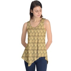 Wood Illustrator Yellow Brown Sleeveless Tunic