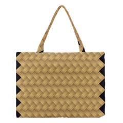 Wood Illustrator Yellow Brown Medium Tote Bag