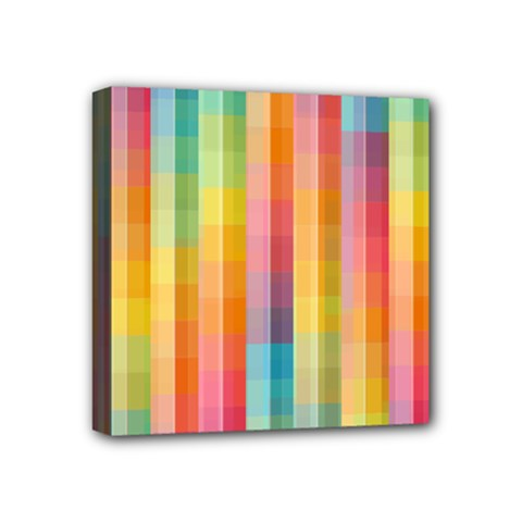 Background Colorful Abstract Mini Canvas 4  x 4
