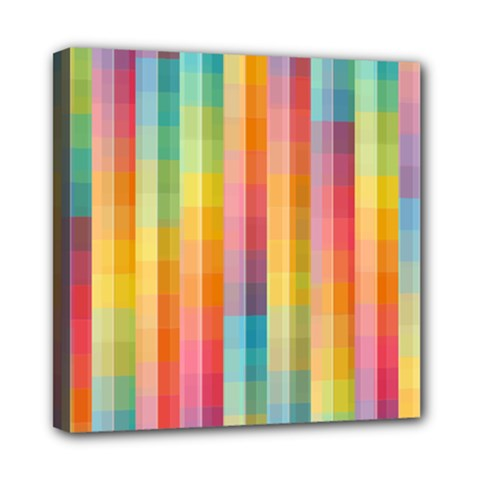 Background Colorful Abstract Mini Canvas 8  X 8
