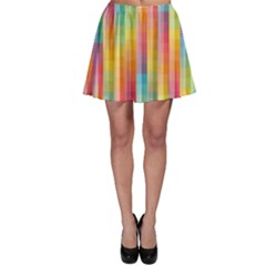 Background Colorful Abstract Skater Skirt