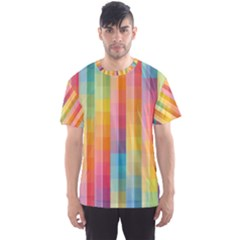 Background Colorful Abstract Men s Sport Mesh Tee