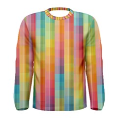 Background Colorful Abstract Men s Long Sleeve Tee