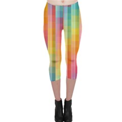 Background Colorful Abstract Capri Leggings