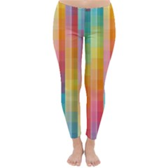 Background Colorful Abstract Classic Winter Leggings