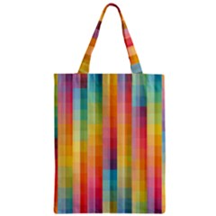 Background Colorful Abstract Zipper Classic Tote Bag